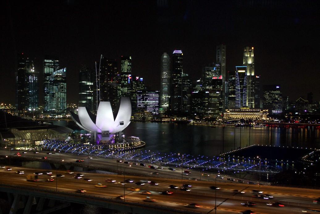 Cingapura vista do alto da roda-gigante Singapore Flyer, uma das 30 melhores cidades do mundo para conhecer (foto: Eduardo Vessoni)
