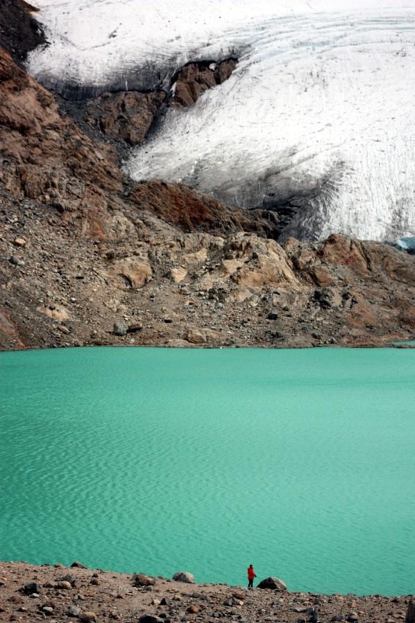 Vista da Laguna de los 3, ao pé do Cerro Torre