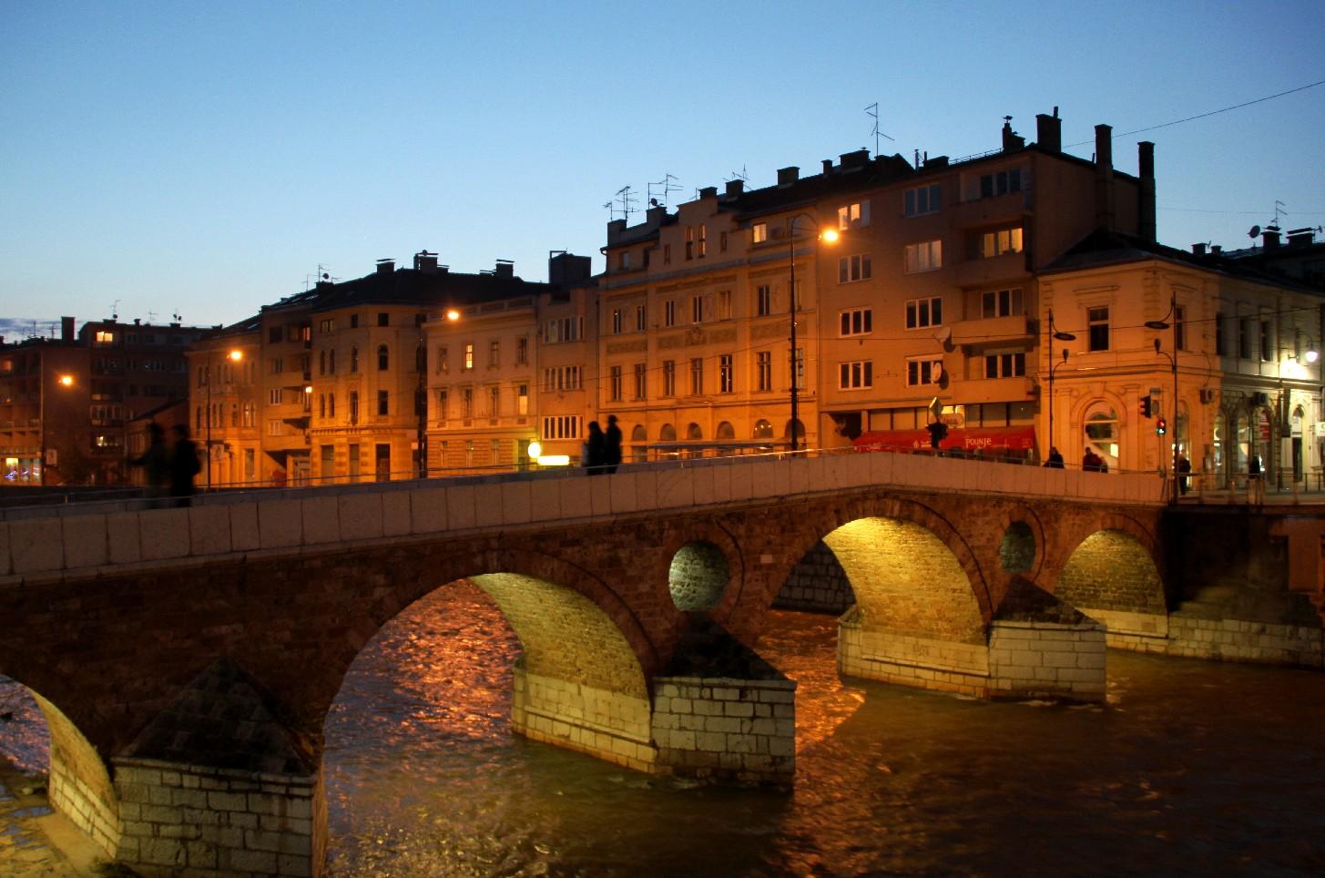 Latin Bridge, em Sarajevo, capiral da Bósnia (foto: Eduardo Vessoni)