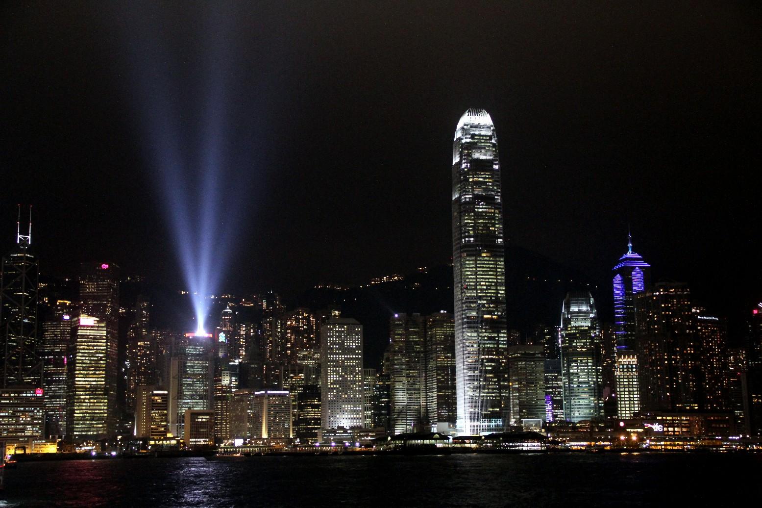 'Sinfonia das Luzes', evento que acontece, diariamente, às 20h, em Hong Kong