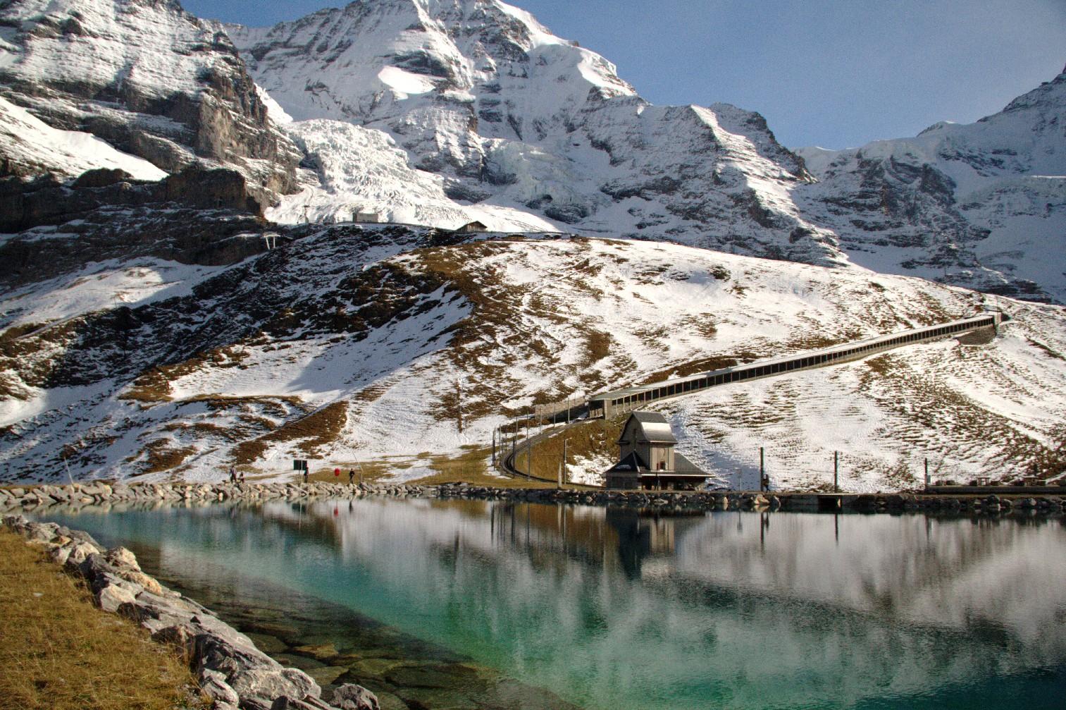 Vista da travessia até Jungfraujoch, a estação de trem mais alta da Europa (foto: Eduardo Vessoni)