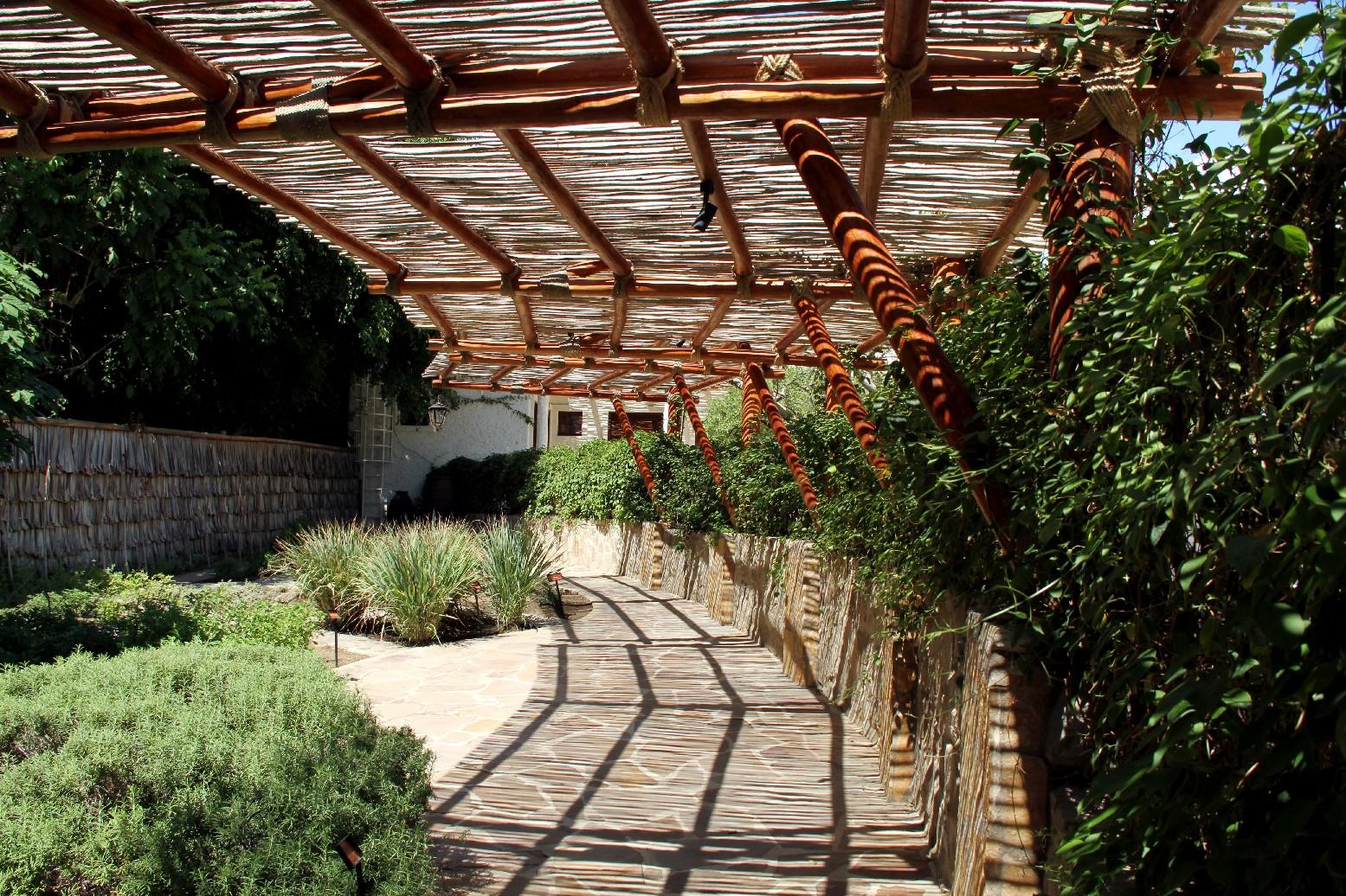 Jardim das Ervas, espaço ao ar livre que conta com uma horta com mais de 15 tipos de ervas que servem para decorar e dar sabor aos pratos preparados durante as aulas