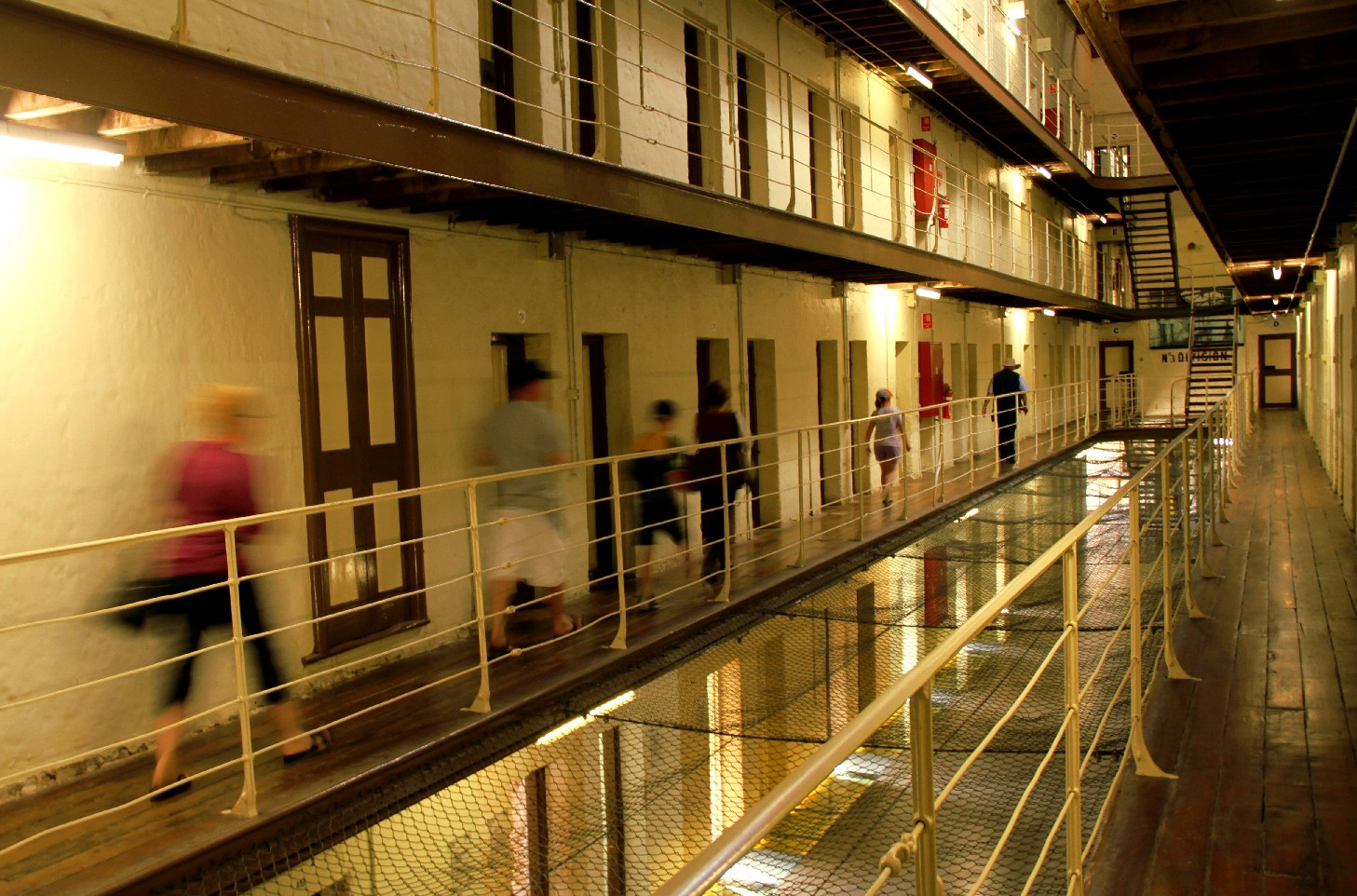 Vista de um dos pavilhões da Fremantle Prison, em Perth, na Austrália (foto: Eduardo Vessoni)