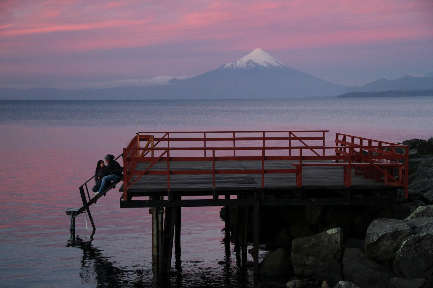 Vulcão Osorno, cartão postal natural entre Porto Montt e Porto Varas Saiba mais (foto: Eduardo Vessoni)
