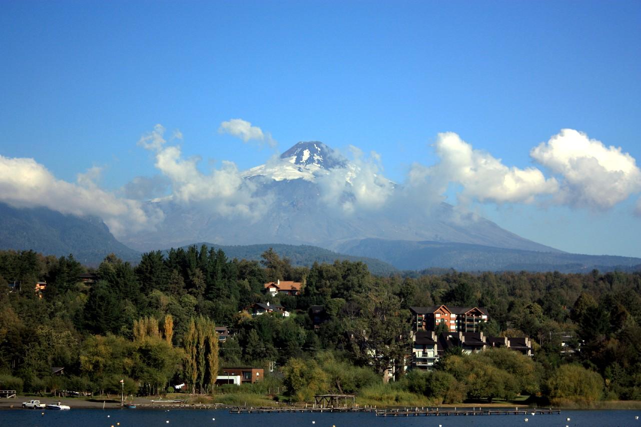 Vulcão Villarrica, em Pucón (foto: Eduardo Vessoni)