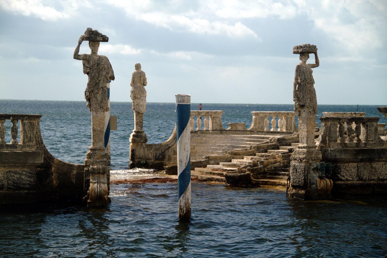 A 'grande barcaça de pedra', no Museu Vizcaya, em Miami (foto: Eduardo Vessoni)