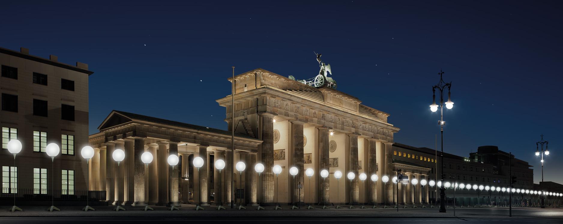 Instalação artística em comemoração aos 25 anos da queda do Muro de Berlim (foto: Daniel Bücke/Divulgação)