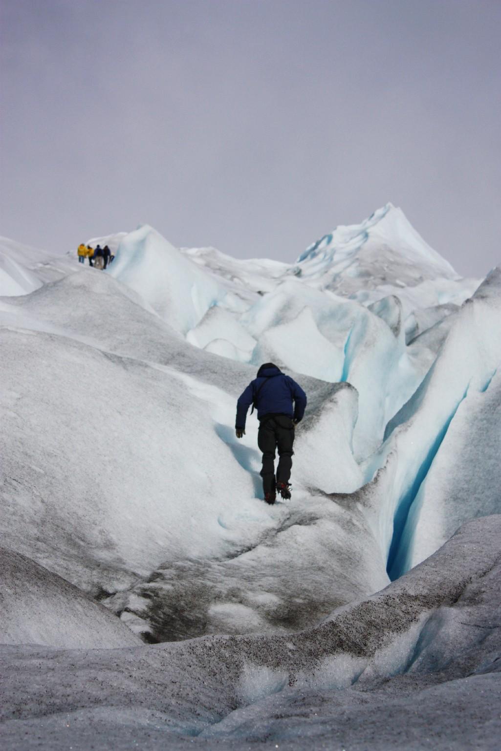 Trekking sobre o gelo, em Calafate (foto: Eduardo Vessoni)
