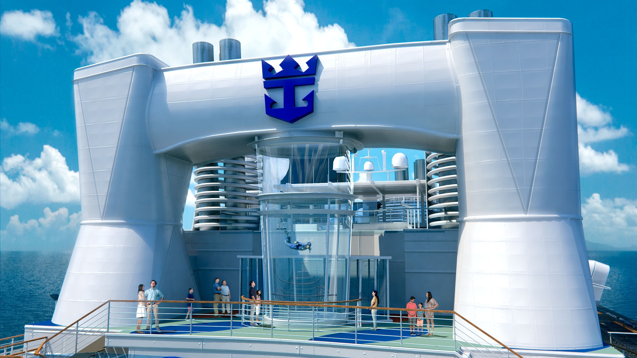 Simulador de voo do navio Quantum of the Seas (foto: Royal Caribbean International / Divulgação)