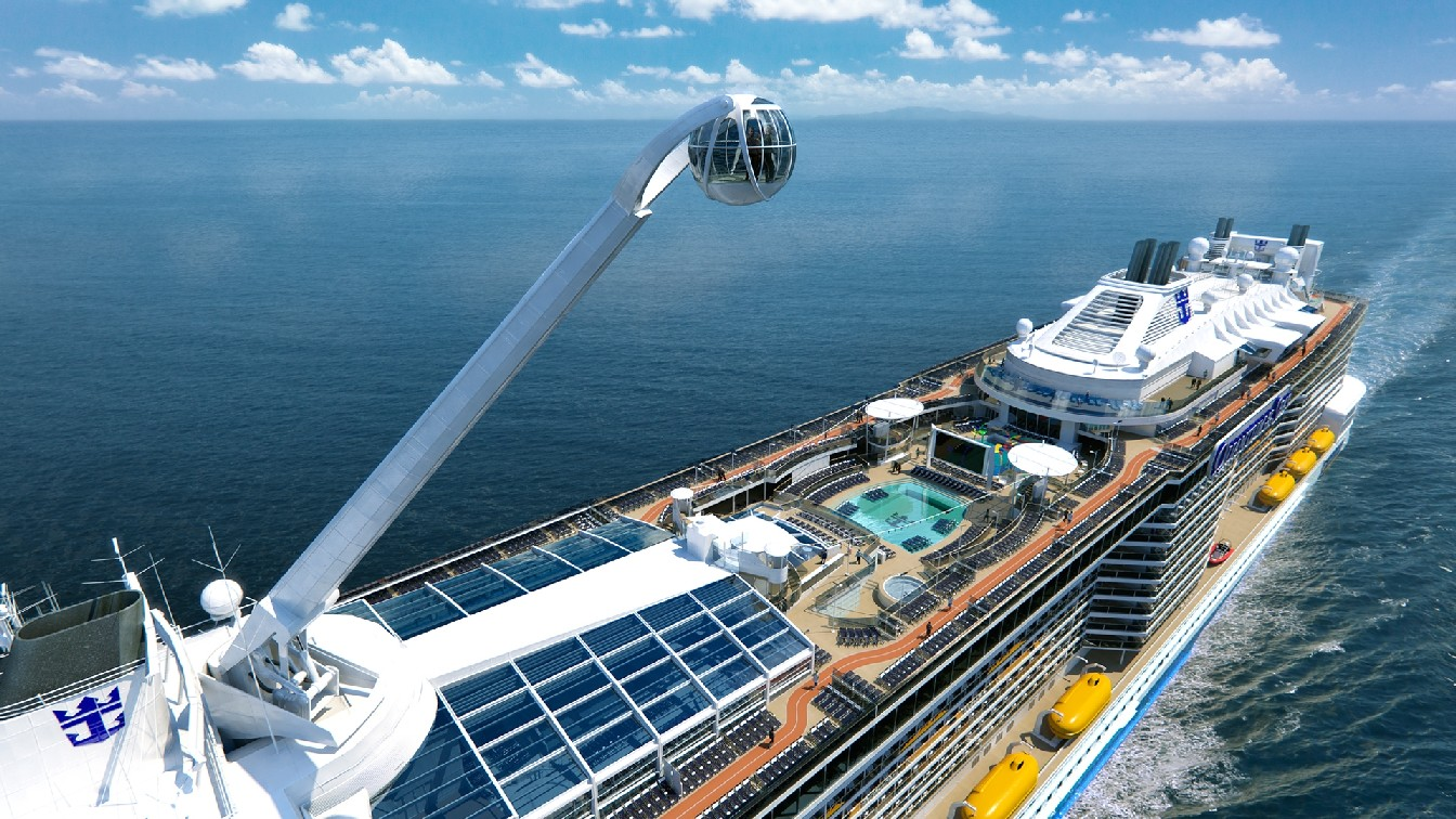 Cabine panorâmica do navio Quantum of the Seas (foto: Royal Caribbean International / Divulgação)