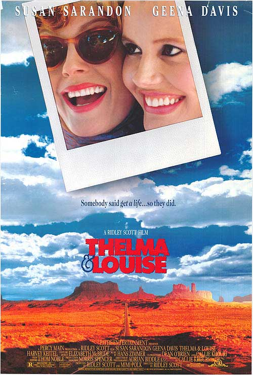 "Cartaz do filme ""Thelma & Louise"""