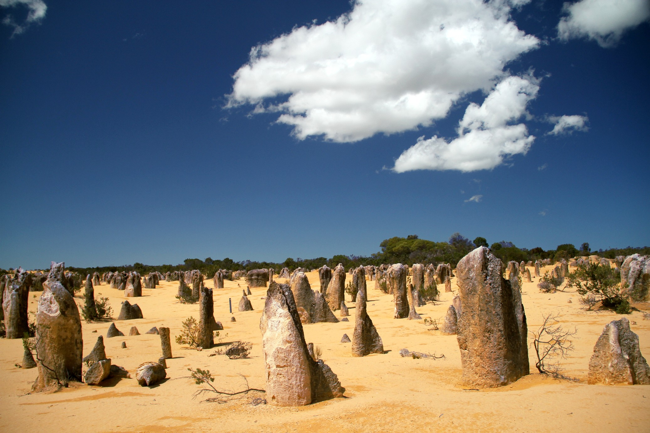 Pinnacles Desert, na Austrália Ocidental (foto: Eduardo Vessoni)