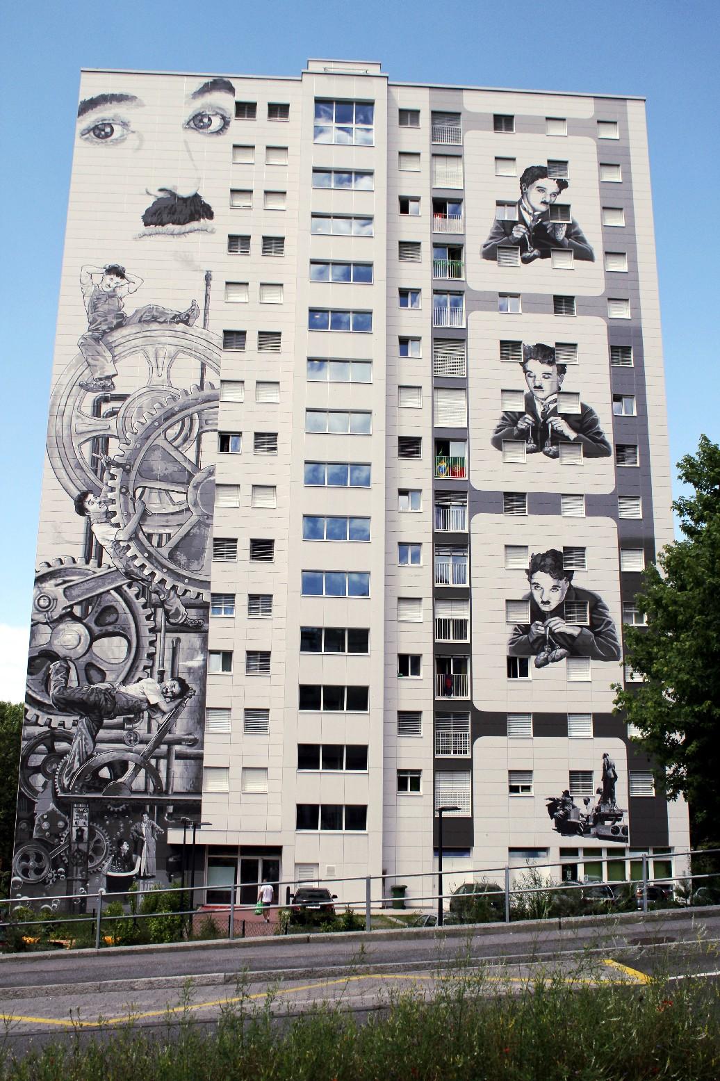 Projeto residencial em Gilamont, em Vevey,. homenageia Charlie Chaplin (foto: Eduardo Vessoni)