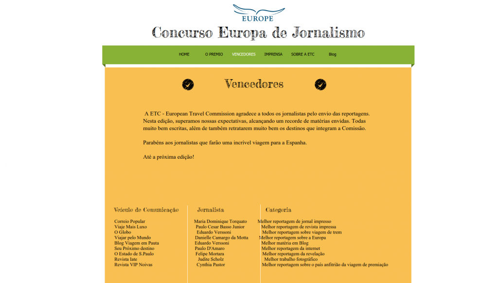 Prêmio Concurso Europa de Jornalismo
