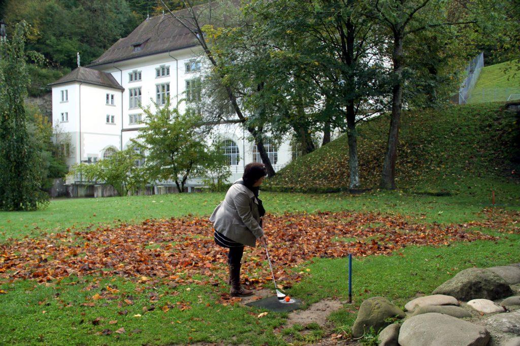 Golfe urbano em Fribourg (foto: Eduardo Vessoni)
