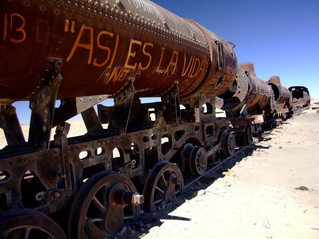 Cemitério de Trens, no Uyuni, Bolívia (foto: Eduardo Vessoni)