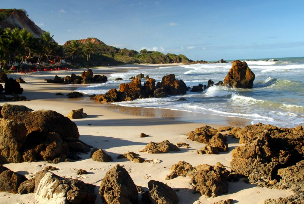 Praia de Tambaba, em Conde, na Paraíba (foto: Eduardo Vessoni)
