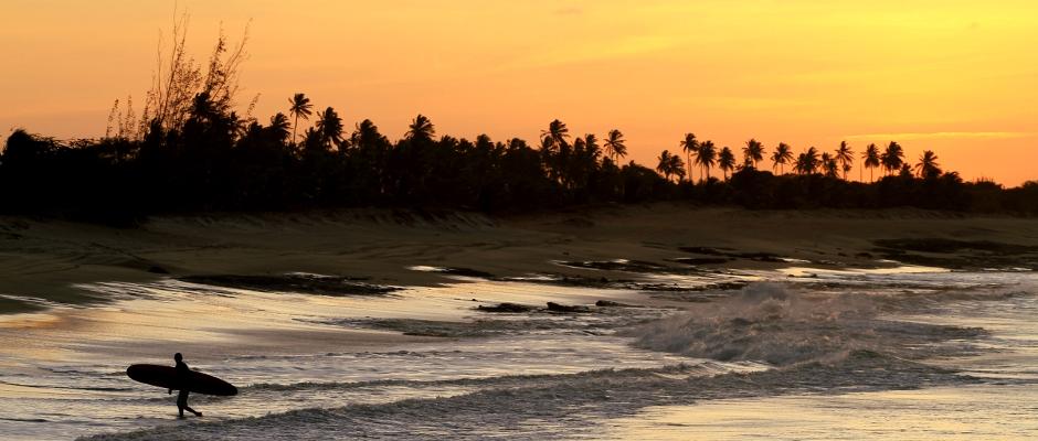 Final de tarde em Tourinhos, próximo a São Miguel do Gostoso, no Rio Grande do Norte (foto: Eduardo Vessoni)