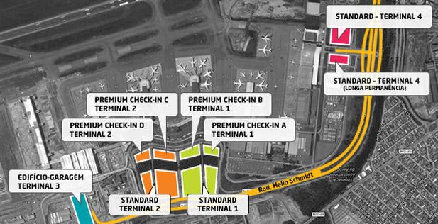 Mapa do estacionamento de GRU (foto: Divulgação)