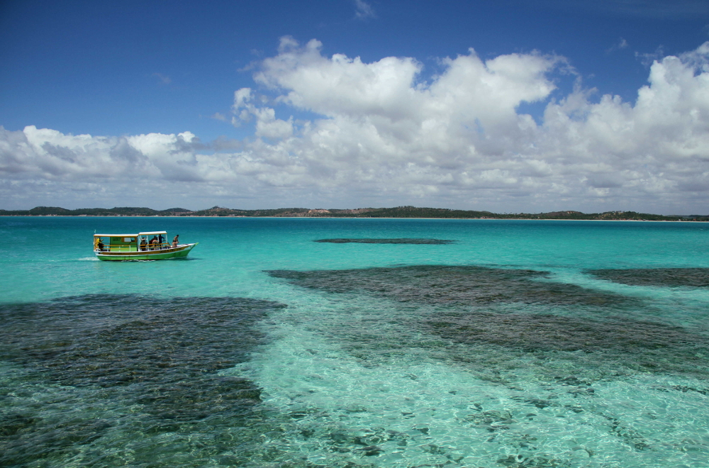 Piscinas naturais de Maragogi, em Alagoas, um dos destinos de dezembro (foto: Eduardo Vessoni)