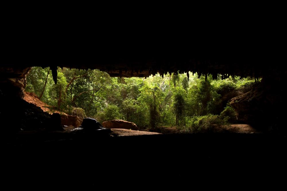 Entrada para a Lapa da Angélica, em Terra Ronca, Goiás (foto: Eduardo Vessoni)