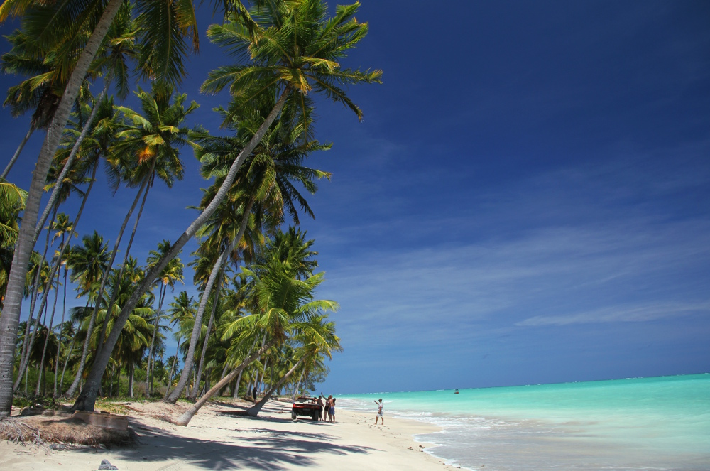 ANTUNES (AL): Localizada no litoral norte de Alagoas, a Costa dos Corais abriga praias que fazem a gente nunca mais querer voltar pro escritório, como a de Antunes, no Litoral Norte de Maragogi (foto: Eduardo Vessoni)