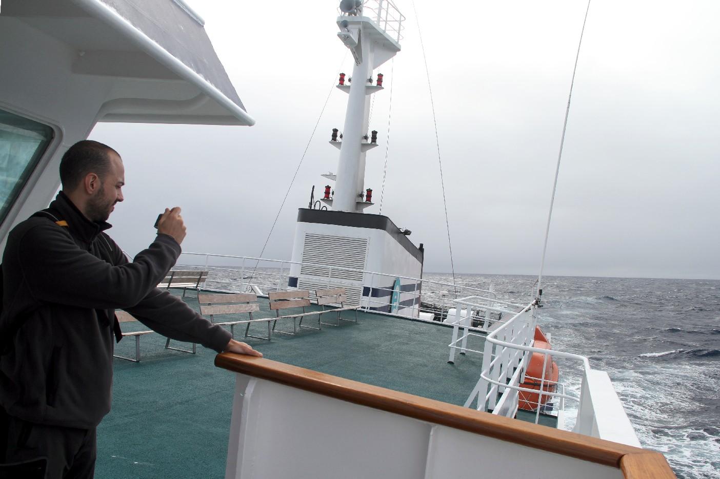 Cruzando o Drake, rumo à Antártica (foto: Eduardo Vessoni)