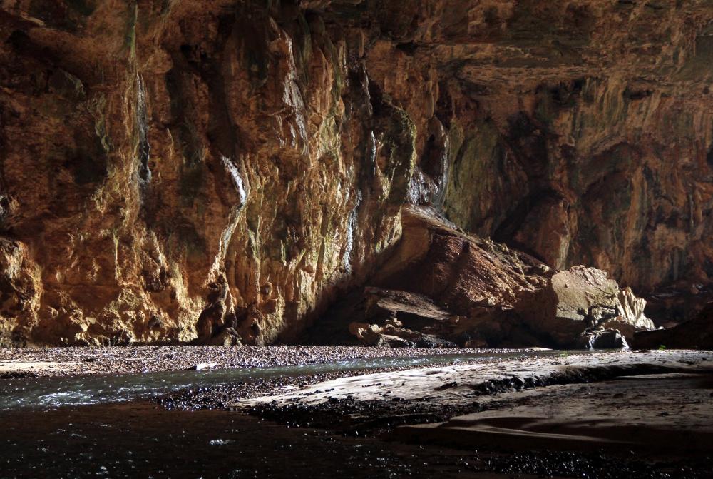 Entrada da caverna Terra Ronca, em Goiás (foto: Eduardo Vesssoni)