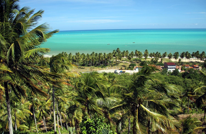 Vista do mirante da Pousada Paraíso dos Coqueirais, na Praia do Salgado (foto: Eduardo Vessoni)