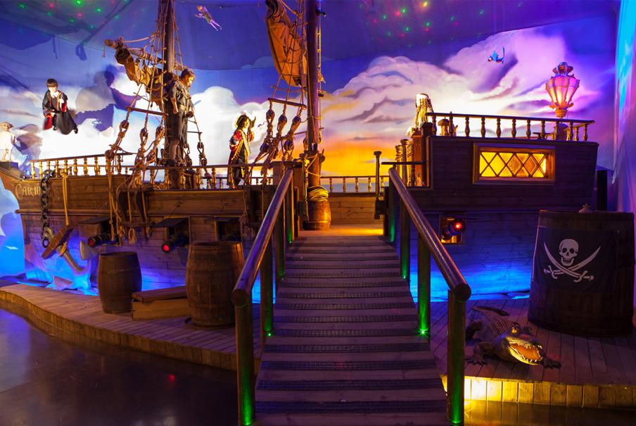 Cenário inspirado no filme 'Piratas do Caribe', em Gramado (foto: Divulgação)