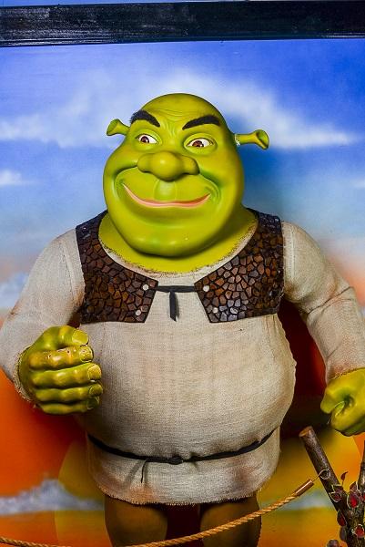 Estátua de cera do personagem Shrek, em Gramado (foto: Divulgação)