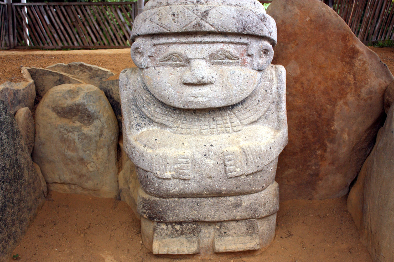 Estátua funerária de Alto de las Piedras, próximo a San Agustín, na Colômbia (foto: Eduardo Vessoni)