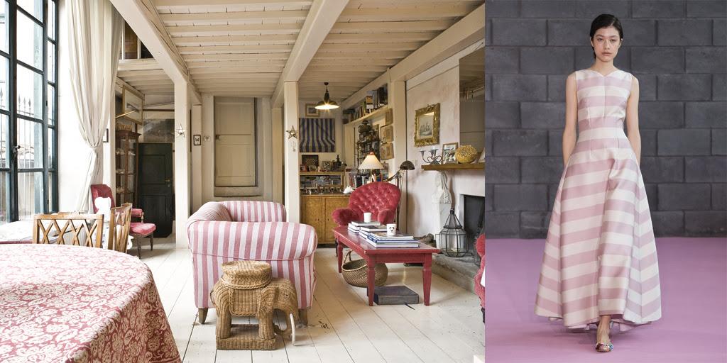 Essa casa em Florença, na Itália, tem diária por R$ 622 para dois hóspedes e decoração que lembra o vestido de seda listrado der Emilia Wickstead (foto: Divulgação/Airbnb)