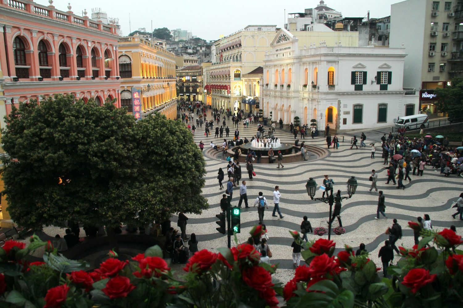 Largo do Senado, no centro histórico de Macau (foto: Eduardo Vessoni)
