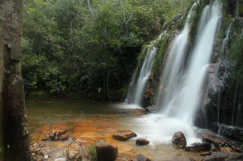 Cachoeira Véu da Noiva, no complexo turístico dos Cristais (foto: Eduardo Vessoni)