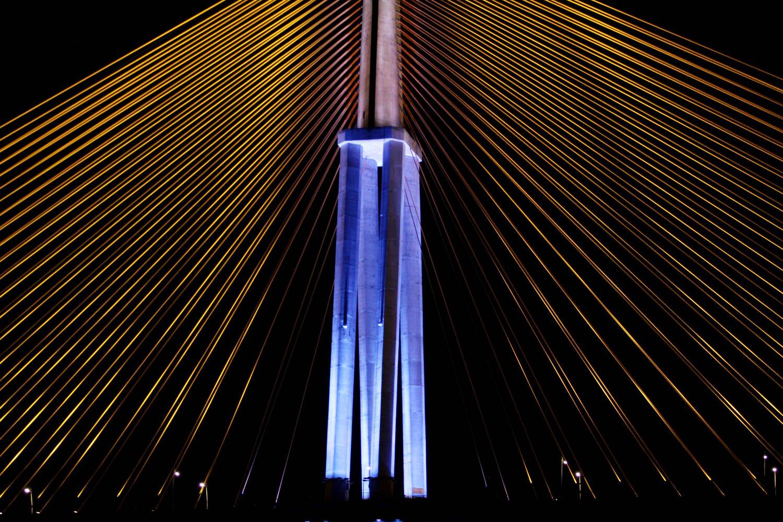 Detalhe da Ponte Rio Negro, em Manaus (foto: Eduardo Vessoni)