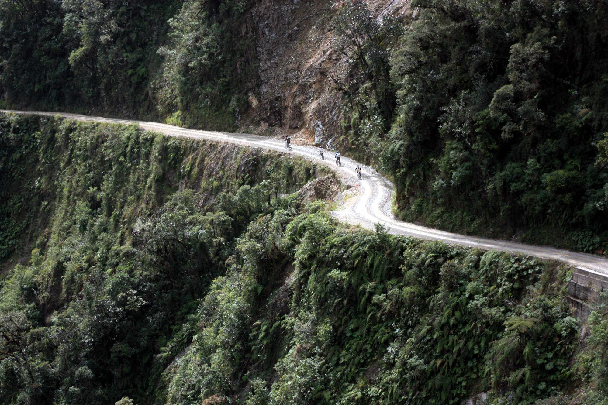 Camino Yungas, entre La Paz e Coroico (foto: Eduardo Vessoni)