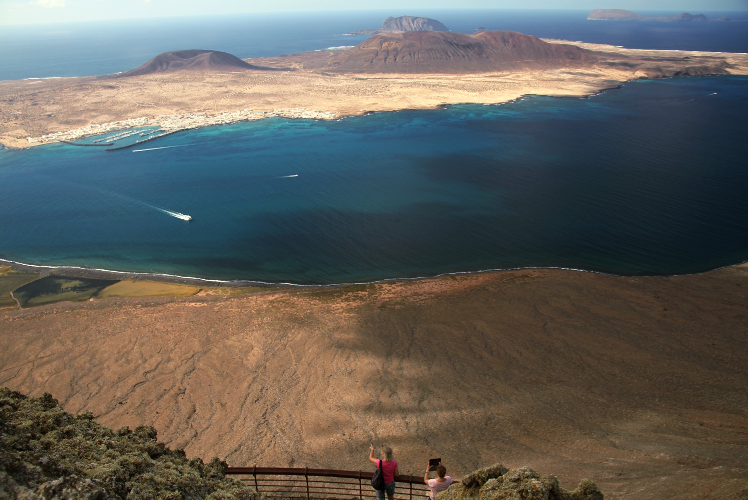 La Graciosa, vista do Mirador del Río (foto: Eduardo Vessoni)